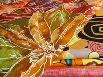 Mistura de matérias têxteis da cópia Fotografia de Stock