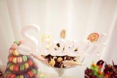 Mistura de mini bolos Fotografia de Stock