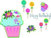 Mistura de sobremesas do aniversário Imagem de Stock Royalty Free