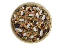 Mistura de sopa das leguminosa secadas em uma bacia Imagens de Stock Royalty Free