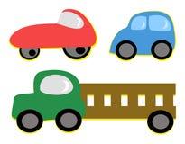 Mistura de veículos ilustração stock