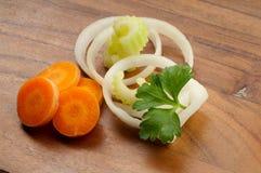 Mistura de vegetais cortados Imagens de Stock
