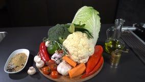 Mistura de vegetais e de especiarias filme