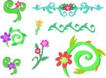Mistura de videiras e de flores espirais Fotos de Stock