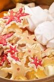 Mistura do bolinho do Natal Foto de Stock Royalty Free