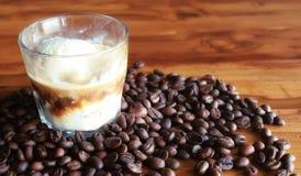 Mistura do café e do abacate Imagem de Stock Royalty Free