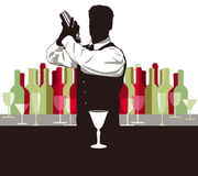 Mistura do cocktail ilustração royalty free