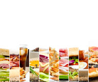 Mistura do fast food Imagens de Stock Royalty Free
