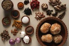 Mistura do ingrediente de alimento Imagem de Stock