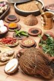 Mistura do ingrediente de alimento Imagens de Stock Royalty Free