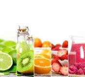 Mistura do suco de fruta Imagem de Stock Royalty Free