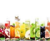 Mistura do suco de fruta Fotografia de Stock Royalty Free