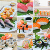 Mistura do sushi foto de stock