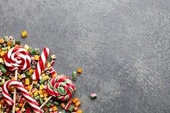 Mistura dos pirulitos e dos doces Fotos de Stock