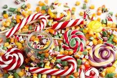 Mistura dos pirulitos e dos doces Foto de Stock
