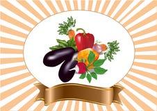 Mistura dos vegetais ilustração royalty free