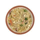 Mistura flavored carne do arroz em uma bacia Fotografia de Stock Royalty Free