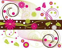 Mistura floral ilustração royalty free