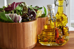Mistura fresca da salada verde Fotos de Stock Royalty Free