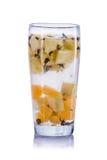 Mistura infundida da água de laranja, de abacaxi e de chá verde Foto de Stock