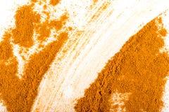 Mistura manchada da textura indiana dos pós das especiarias e das ervas imagem de stock royalty free