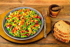 Mistura mexicana de vegetais Tomates, feijões, aipo imagem de stock royalty free