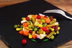 Mistura mexicana de vegetais Tomates, feijões, raiz de aipo, B verde Fotografia de Stock Royalty Free
