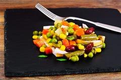 Mistura mexicana de vegetais Tomates, feijões, raiz de aipo, B verde Fotografia de Stock