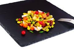 Mistura mexicana de vegetais Tomates, feijões, raiz de aipo, B verde Foto de Stock