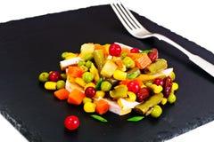 Mistura mexicana de vegetais Tomates, feijões, raiz de aipo, B verde Imagem de Stock