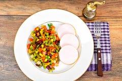 Mistura mexicana de vegetais Tomates, feijões, raiz de aipo, B verde Fotos de Stock Royalty Free