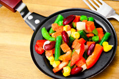 Mistura mexicana de vegetais Tomates, feijões, raiz de aipo, B verde Imagens de Stock Royalty Free