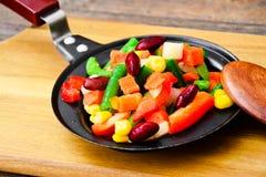 Mistura mexicana de vegetais Tomates, feijões, raiz de aipo, B verde Foto de Stock Royalty Free
