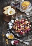 Mistura Nuts e secada dos frutos Foto de Stock Royalty Free