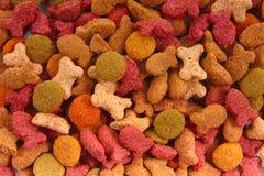Mistura seca do alimento de gato Foto de Stock Royalty Free