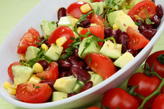 Mistura vegetal da salada Foto de Stock