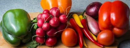 Mistura vegetal na placa da cozinha Alimento do vegetariano imagens de stock royalty free