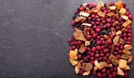 Misturado de frutos secados, vista superior Foto de Stock