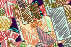 Misturado ou mutiple dá forma à mão do fundo tirada, bom para o projeto gráfico Arte, lona, detalhes & ilustração ilustração do vetor