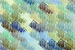Misturado ou mutiple dá forma mão abstrata ao fundo, à textura ou ao contexto tirado Gráfico, detalhes, colorido & projeto ilustração stock