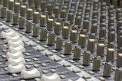 Misturador audio Imagens de Stock Royalty Free