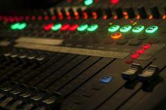 Misturador audio Foto de Stock