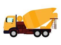Misturador concreto do caminhão dos desenhos animados da ilustração do vetor Fotos de Stock Royalty Free