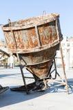 Misturador concreto oxidado enorme velho Foto de Stock Royalty Free