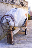 Misturador concreto velho Imagens de Stock Royalty Free