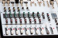 Misturador da música Foto de Stock