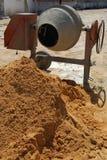 Misturador de cimento Foto de Stock Royalty Free