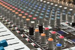 Misturador de Soundboard Imagem de Stock Royalty Free