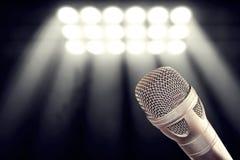 Misturador do áudio do microfone fotos de stock