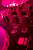 Misturador do DJ fotografia de stock